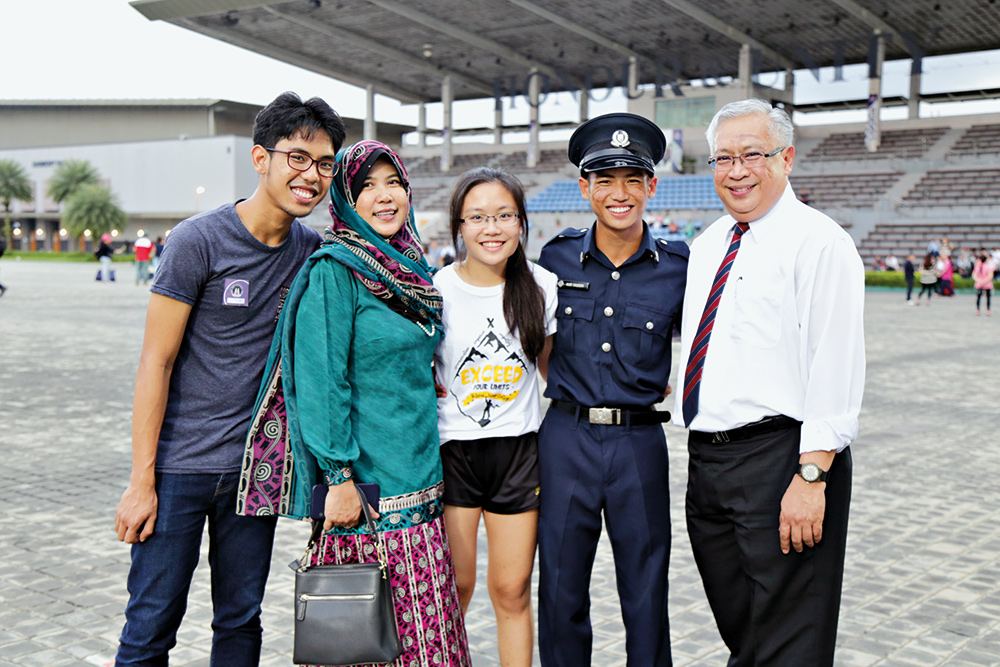 SCSGT (1) Hazeem, seen here with his proud family members.